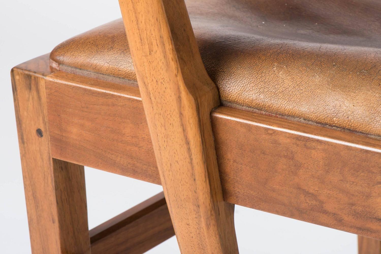 Single Walnut Desk Chair by Edward Barnsley | From a ...
