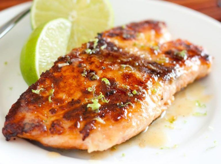 HONEY GLAZED SALMON WITH BROWNED BUTTER LIME SAUCE – Land Of Recipes