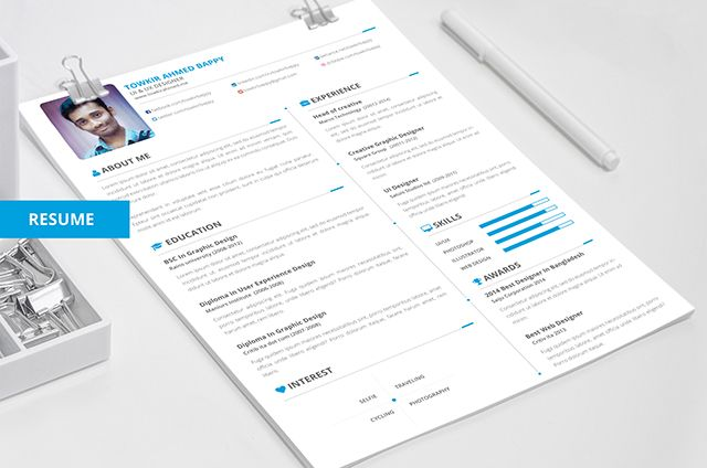 18 Nuevas Plantillas Editables y Gratuitas para tu Currículum Vitae - free resume design templates