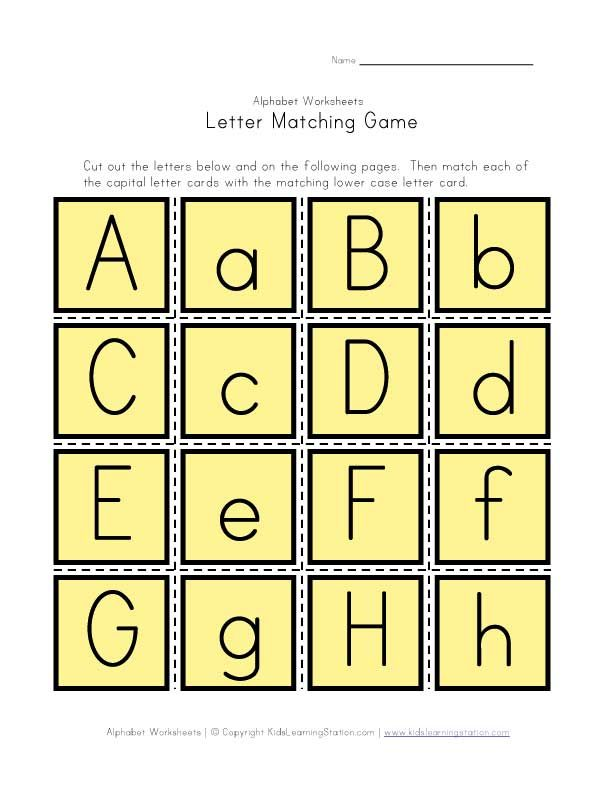 Alphabet Matching Game | For the Wee Ones | Pinterest