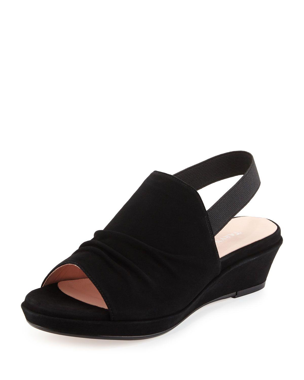86eb8e8237f Tiva Suede Slingback Demi-Wedge Sandal