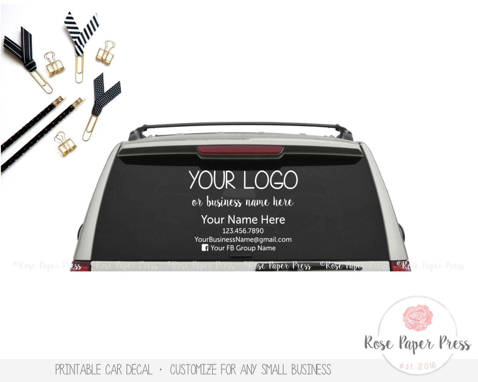 Car Decal Custom Printable Decal Small Business Marketing - Custom car decals businesswindow decals