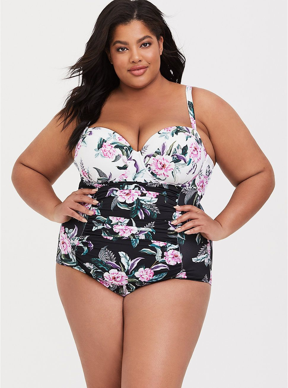 cd1f0dc1f2551 Push-Up Demi Slim Fix One-Piece Swimsuit in 2019 | Fatshion: Plus ...
