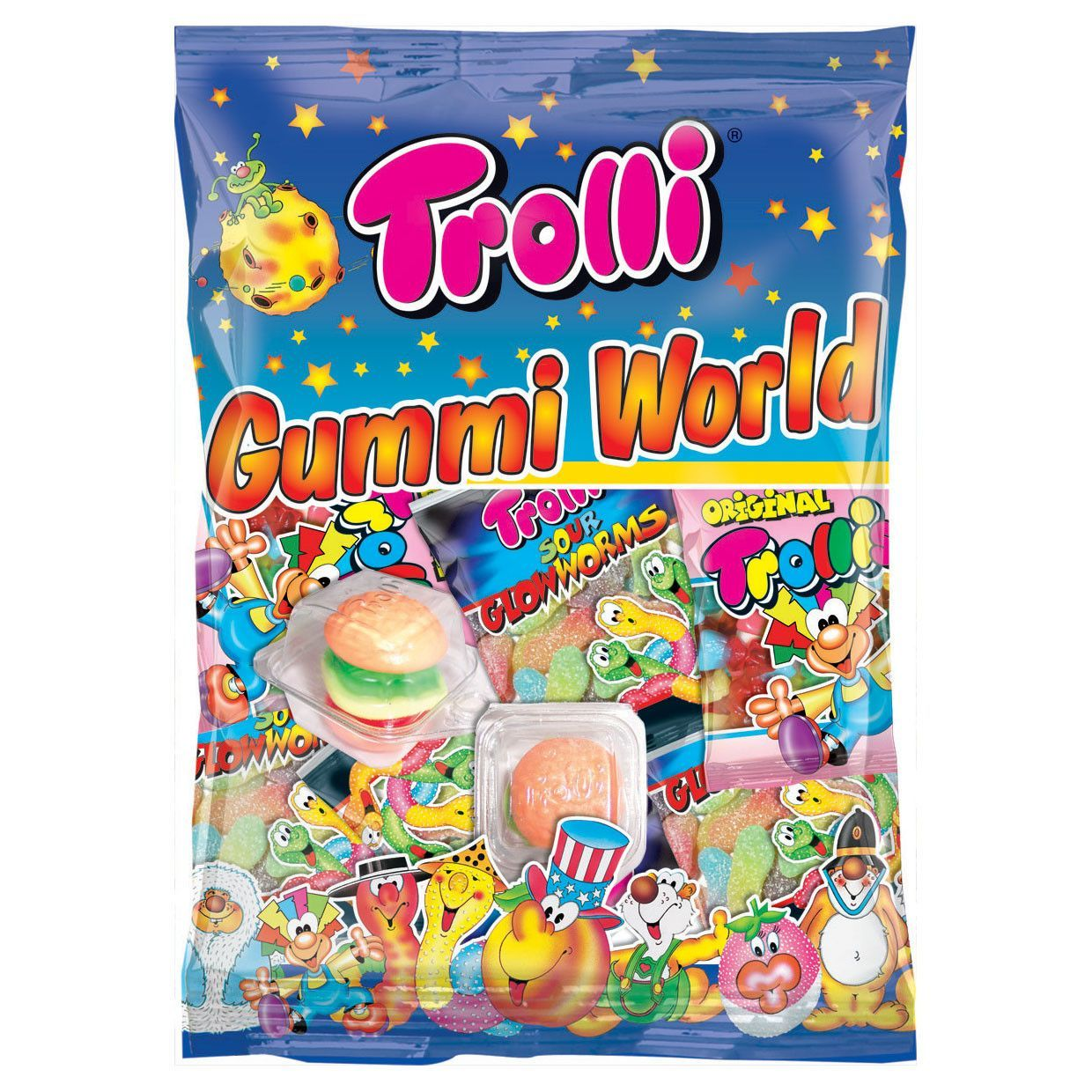 -in USA- Trolli Gummi World Candy Variety - 230g