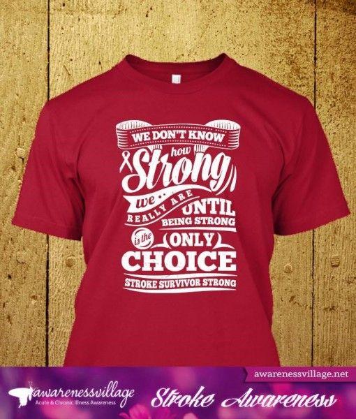 679e1e56 Stroke Awareness Shirt – Stroke Survivor Strong – White | Stroke Awareness  | Brain cancer awareness, Ovarian cancer awareness, Pancreatic cancer  awareness
