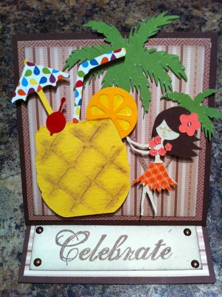Cricut Tropical Birthday Card. Life's a Beach Cartridge ...