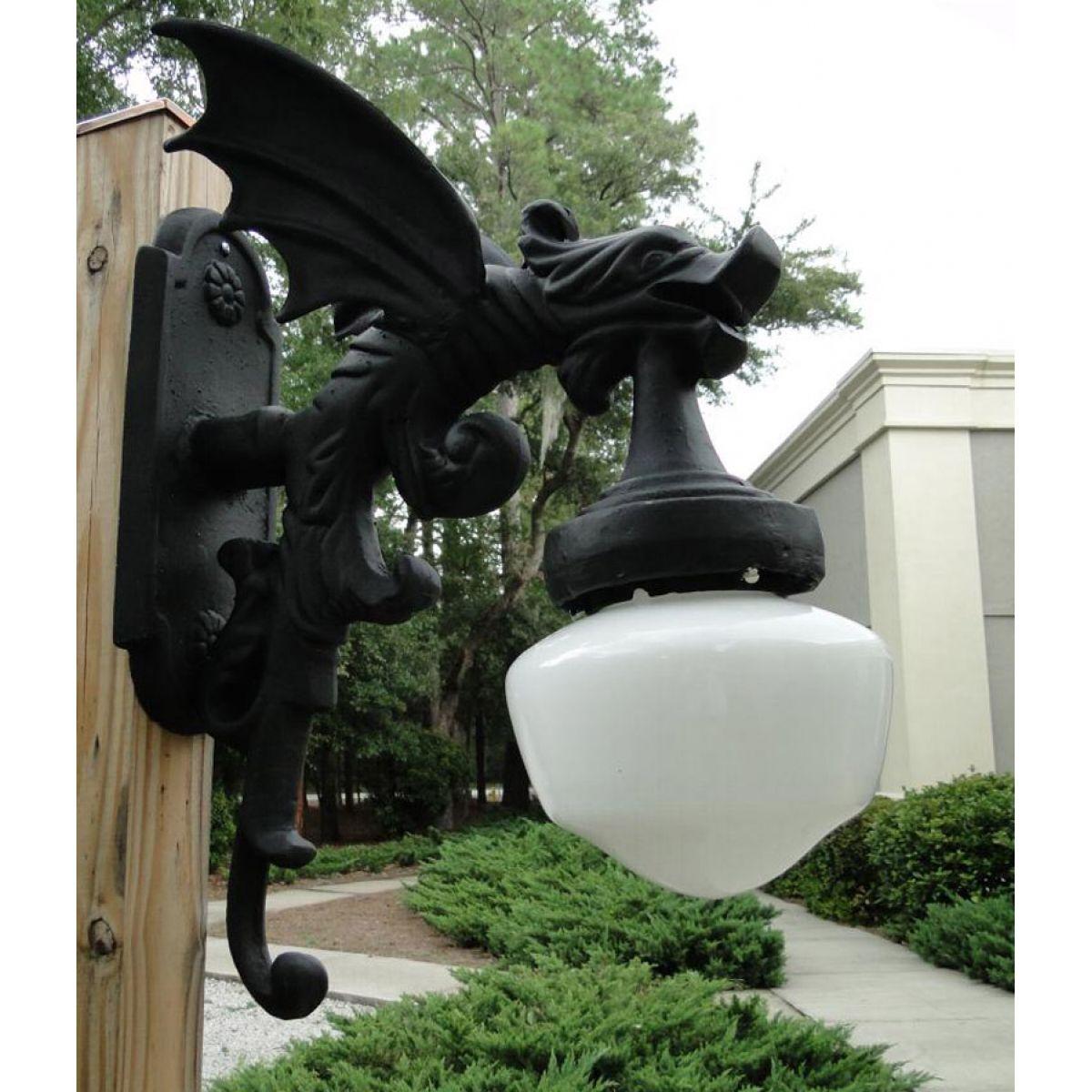 antique looking outdoor light fixtures. outdoor wall light sconce fixture antique styl gargoyle dragon wings vintage looking fixtures o