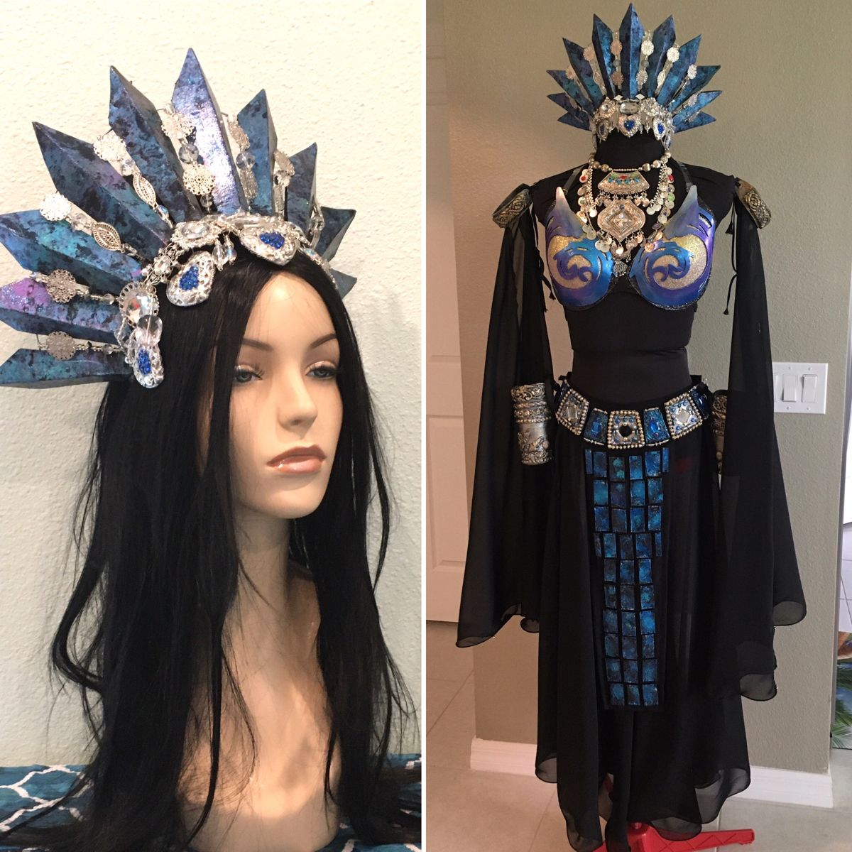 Halloween 2020 The Damned Akasha Queen of the damned Vampire costume blue version full