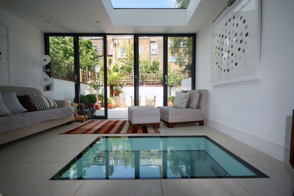 Home Decoration Unique Glass Floor Tile Design With Water Under