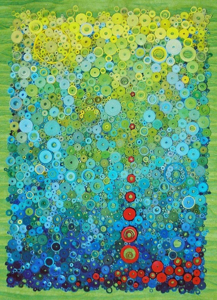 Modern wall art, Modern paper art, Bright modern art, Original 3 ...