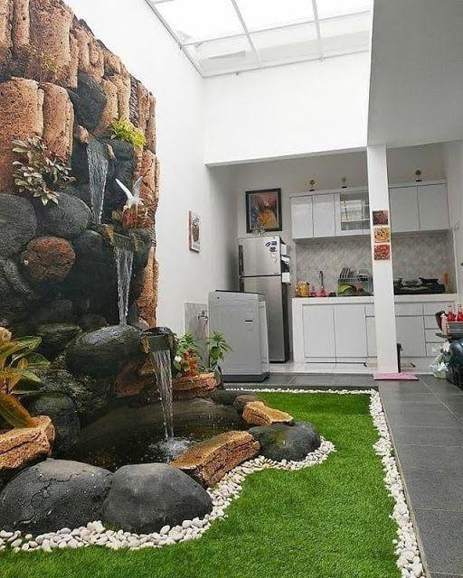 Pin Oleh Yudi Sukma Purwadi Di Batiik Desain Patio Ide Halaman Belakang Atap Hijau