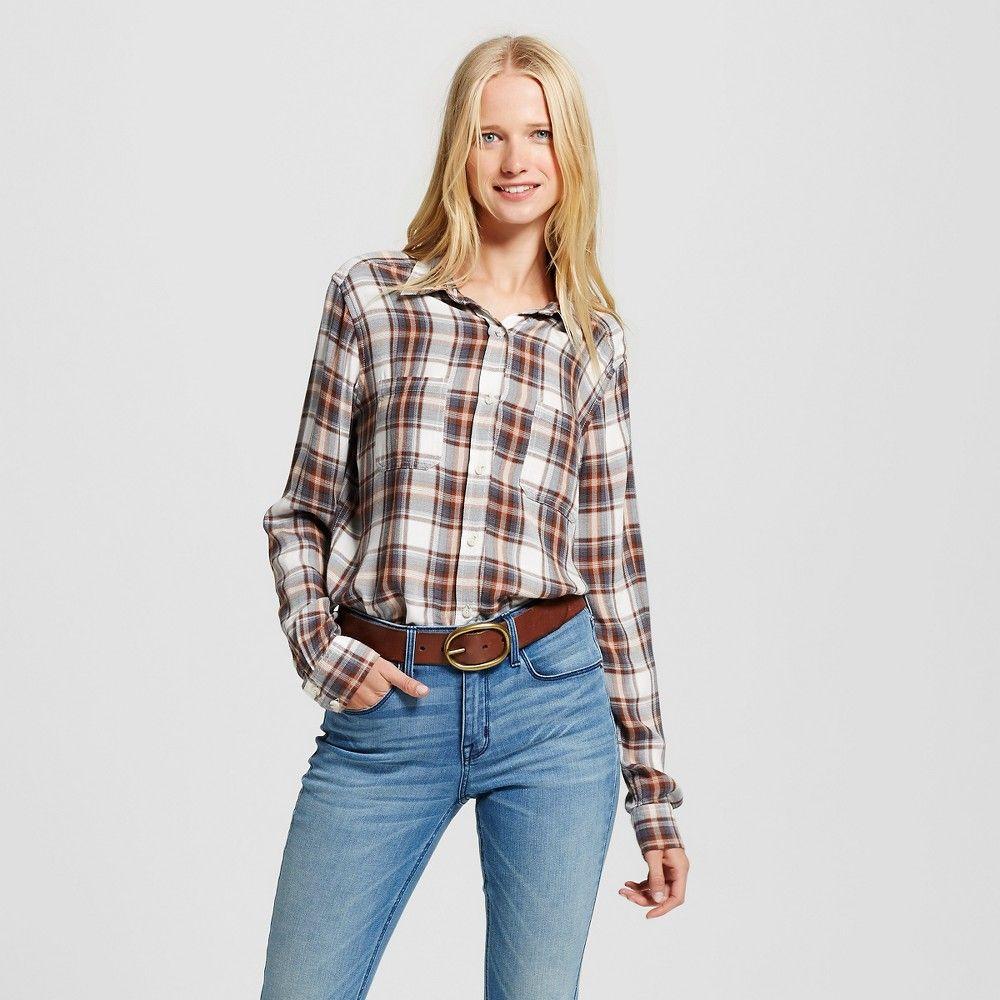 bdfa5a0a8591f5 Women's Boyfriend Shirt Black Xxl - Mossimo Supply Co. (Juniors'), White