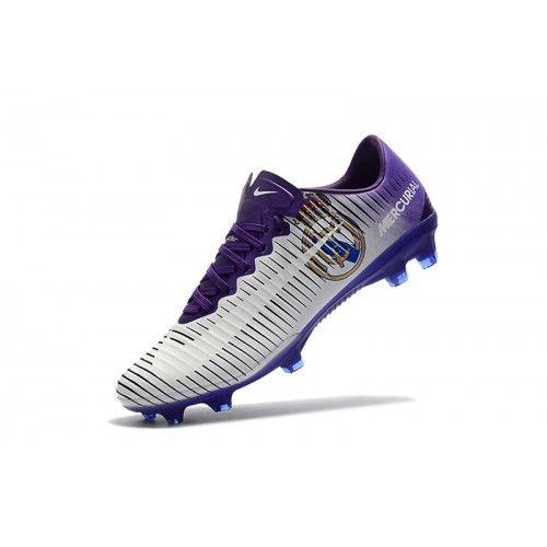Nike Mercurial Fotbollsskor - Billig Nike Mercurial Vapor XI FG Herr Silver  Lila Fotbollsskor Outlet bd0725746ff79