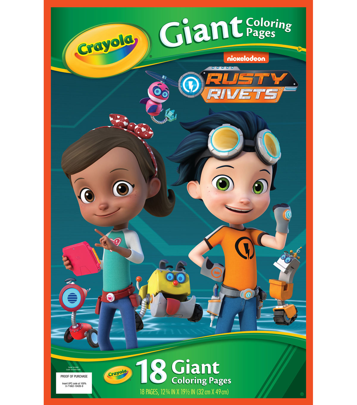 Crayola Giant Coloring Pages 12 75 X19 5 Rusty Rivets Joann Coloring Pages Crayola Gifts For Kids