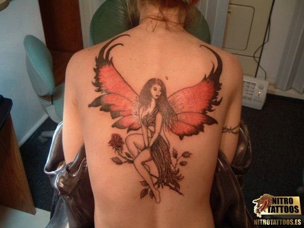 Tatuajes De Hadas Con Flores Fairy Tattoo Tattoo Designs For Girls Angel Tattoo For Women