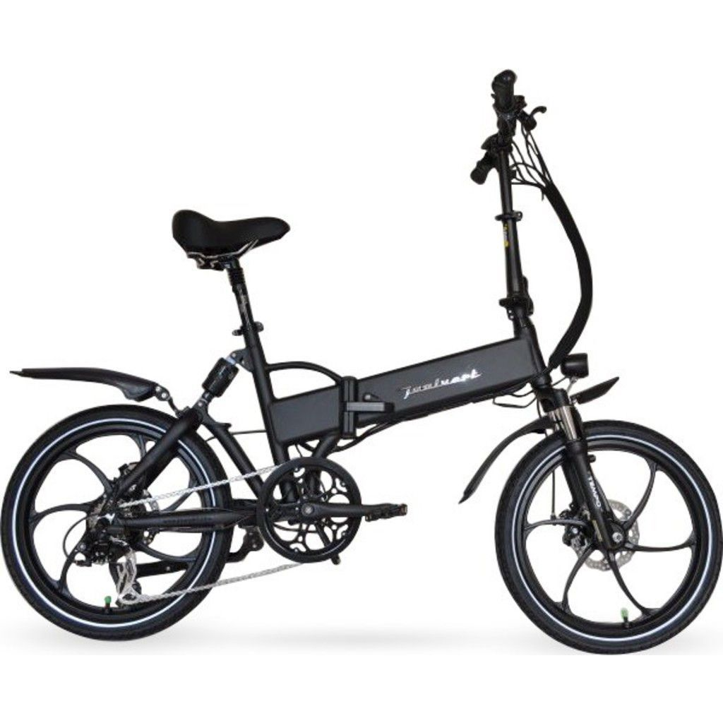 Joulvert Stealth Folding Electric Bicycle Matte Black Electric