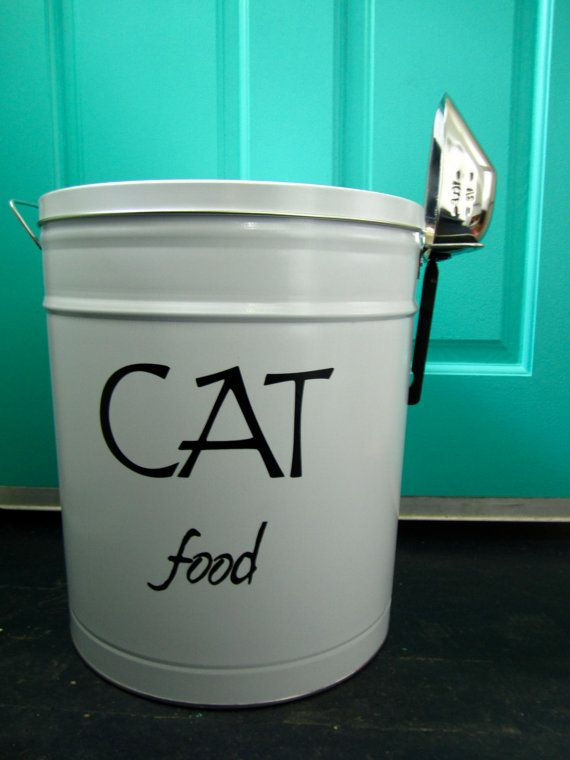 Pet Food Storage Tin small size, much nicer looking than