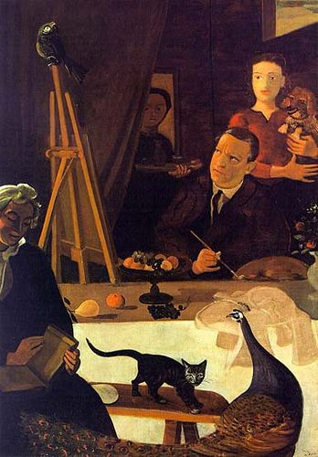 Andre Derain ~ Self-Portrait with his Family, 1939
