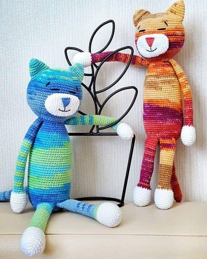Amigurumi Kedi Tarifi | Kedi, Amigurumi, Oyuncak | 1002x800