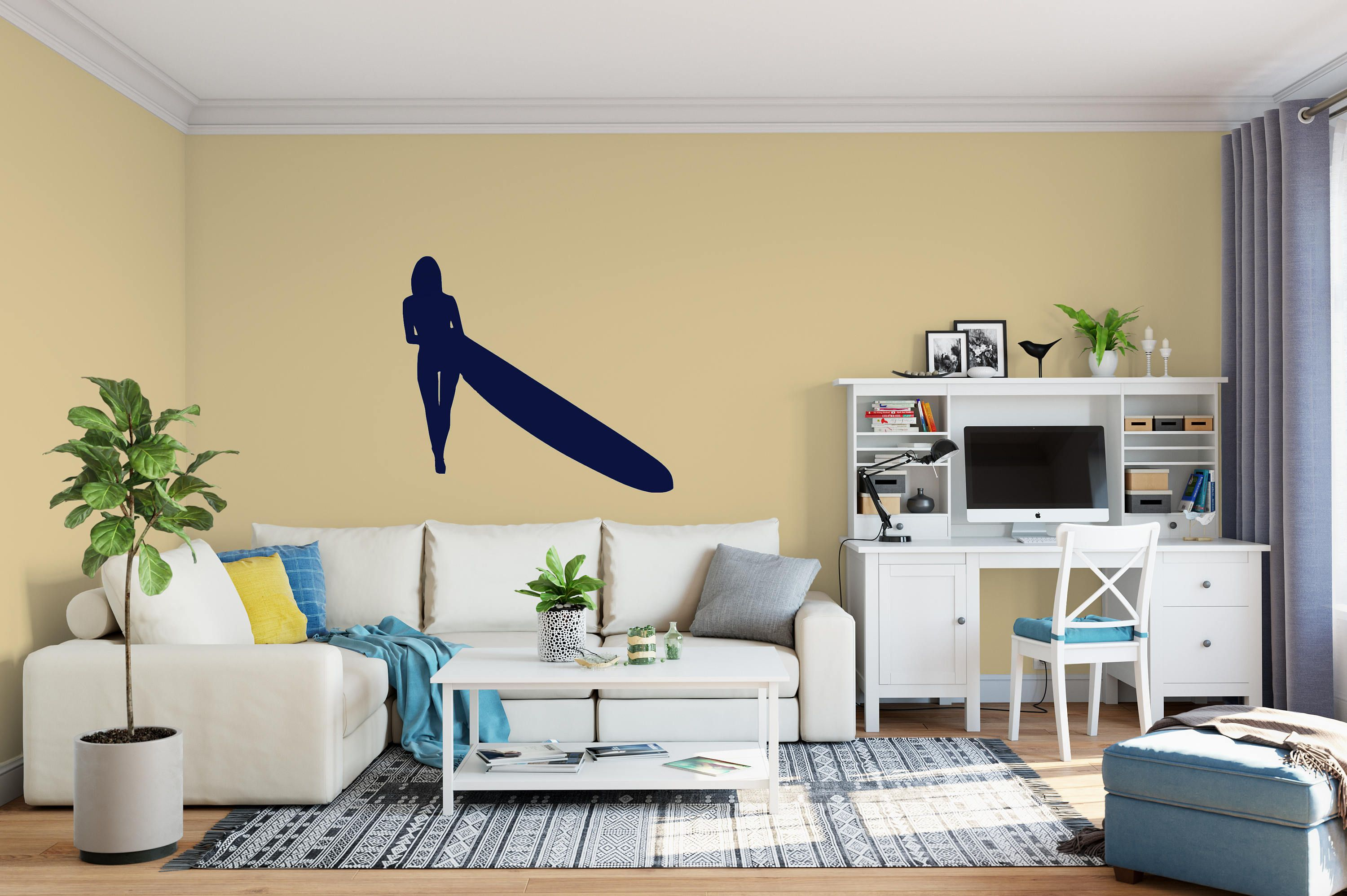 Surfer Decal - Small & Large Vinyl Surfer Wall Decals - Boys Room ...