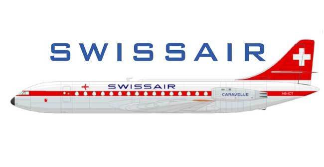 Swissair Sud Aviation SE 210 Caravelle Free Airplane Paper Model Download - http://www.papercraftsquare.com/swissair-sud-aviation-se-210-caravelle-free-airplane-paper-model-download.html#1100, #AirplanePaperModel, #Caravelle, #SE210, #SudAviation, #SudAviationCaravelle, #SudAviationSE210Caravelle