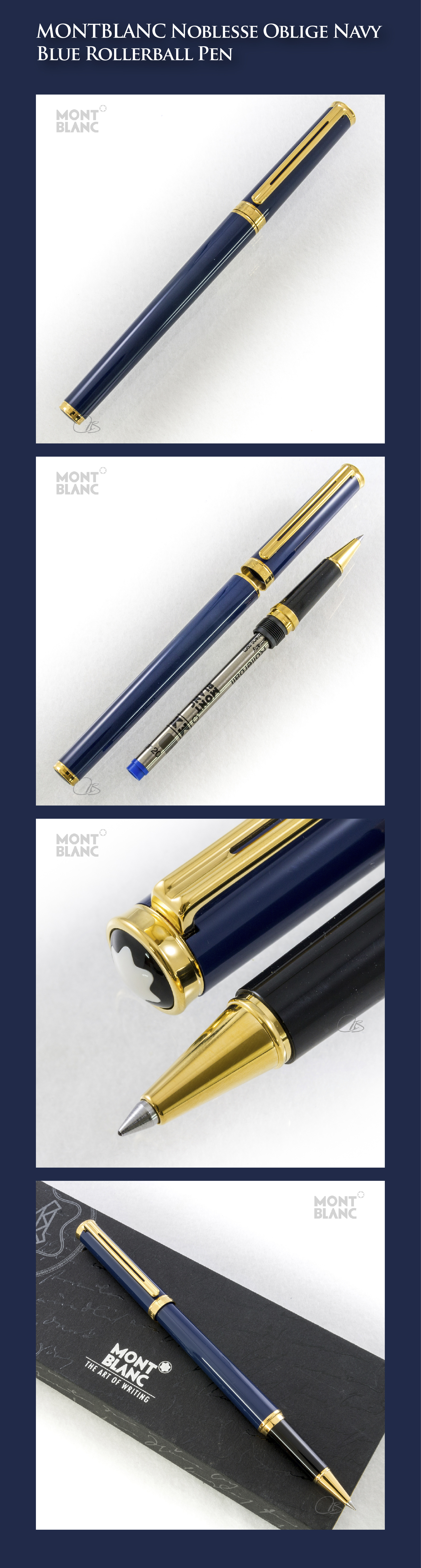 a811eb9eb8f MONTBLANC Noblesse Oblige Navy Blue Rollerball Pen (lacquer-coated metal  body