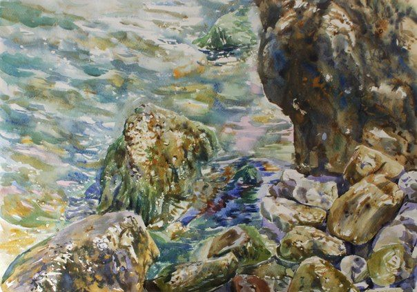 #watercolor#water#sea#