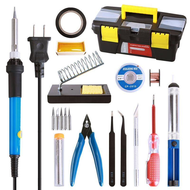 10mm Replacement Tip Set Kit for Electric Soldering Desoldering Iron Tweezers