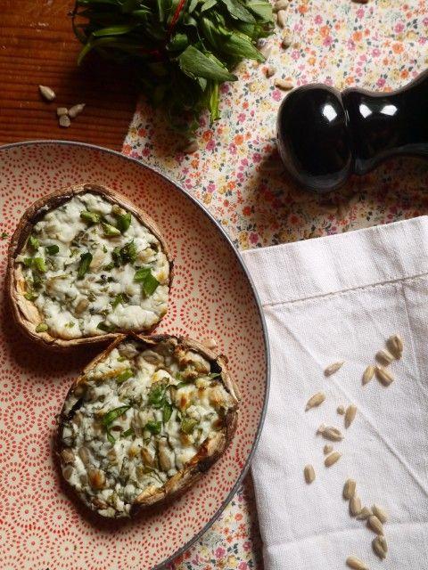 champignon-estragon-chèvre-betty | Champignons farcis au ...