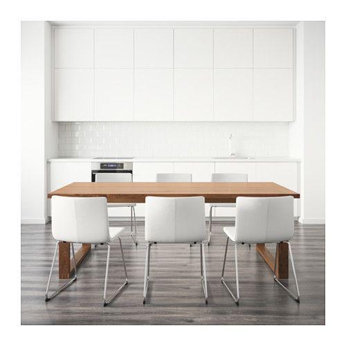 m rbyl nga bernhard mesa e 6 cadeiras castanho kavat branco ikea pinterest apartamento. Black Bedroom Furniture Sets. Home Design Ideas