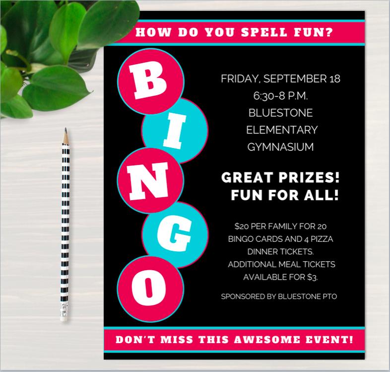 Bingo Night Flyer Template Bingo Night Bingo Bingo Template