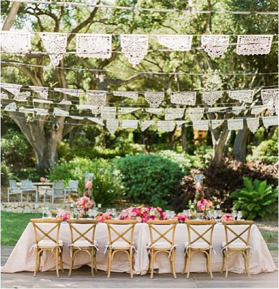 Papel Picado Spanish Colonial Wedding By La Fete Weddings Event Planners Custom Banners Ay