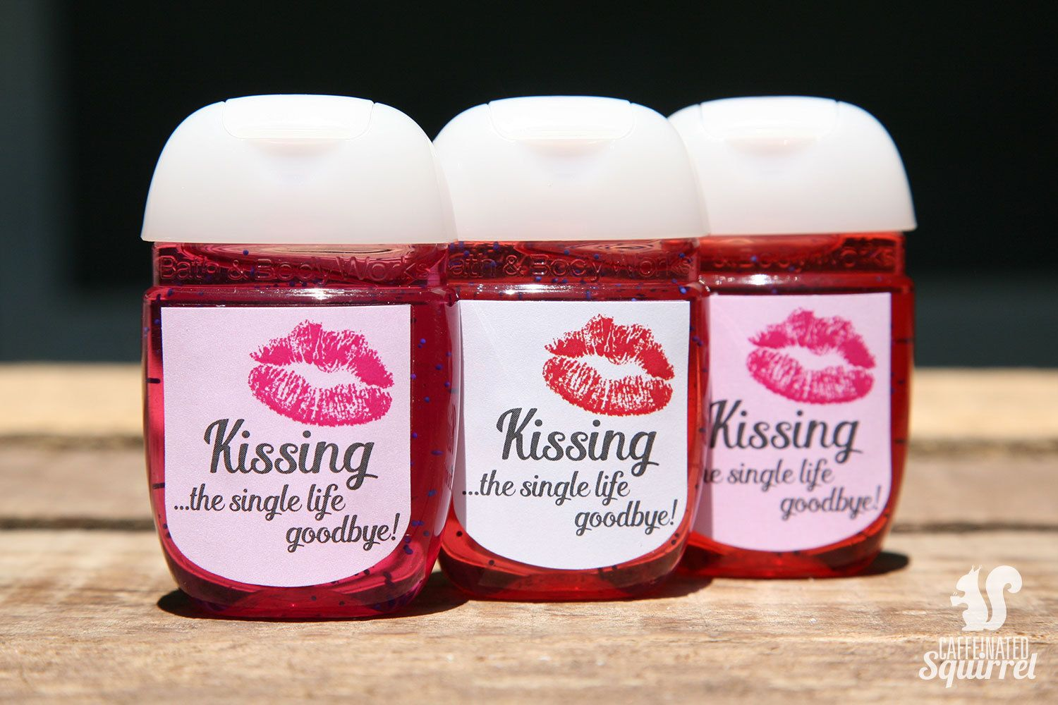 Kissing The Single Life Goodbye Customizable Sanitizer Labels