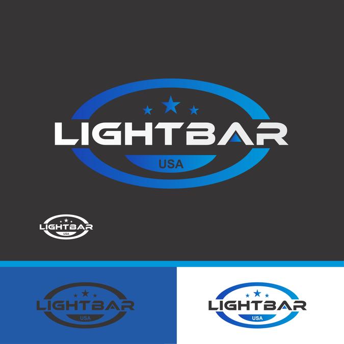 4 x 4 Truck and LightBar USA in Logo by BablasAngine
