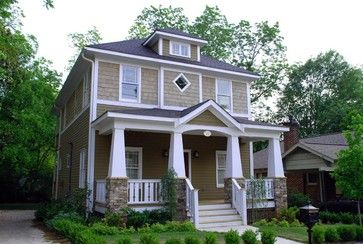 Taper Ends Of Porch Roof Like This Craftsman Exterior Craftsman Bungalows Square House Plans