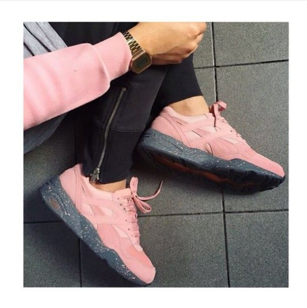 the best attitude a62a9 84c0d shoes pink sneakers asics gel lyte iii low top sneakers pink sports shoes  dope shoes puma r698 winterized grey pink shoes pastel tumblr tumblr outfit  ...