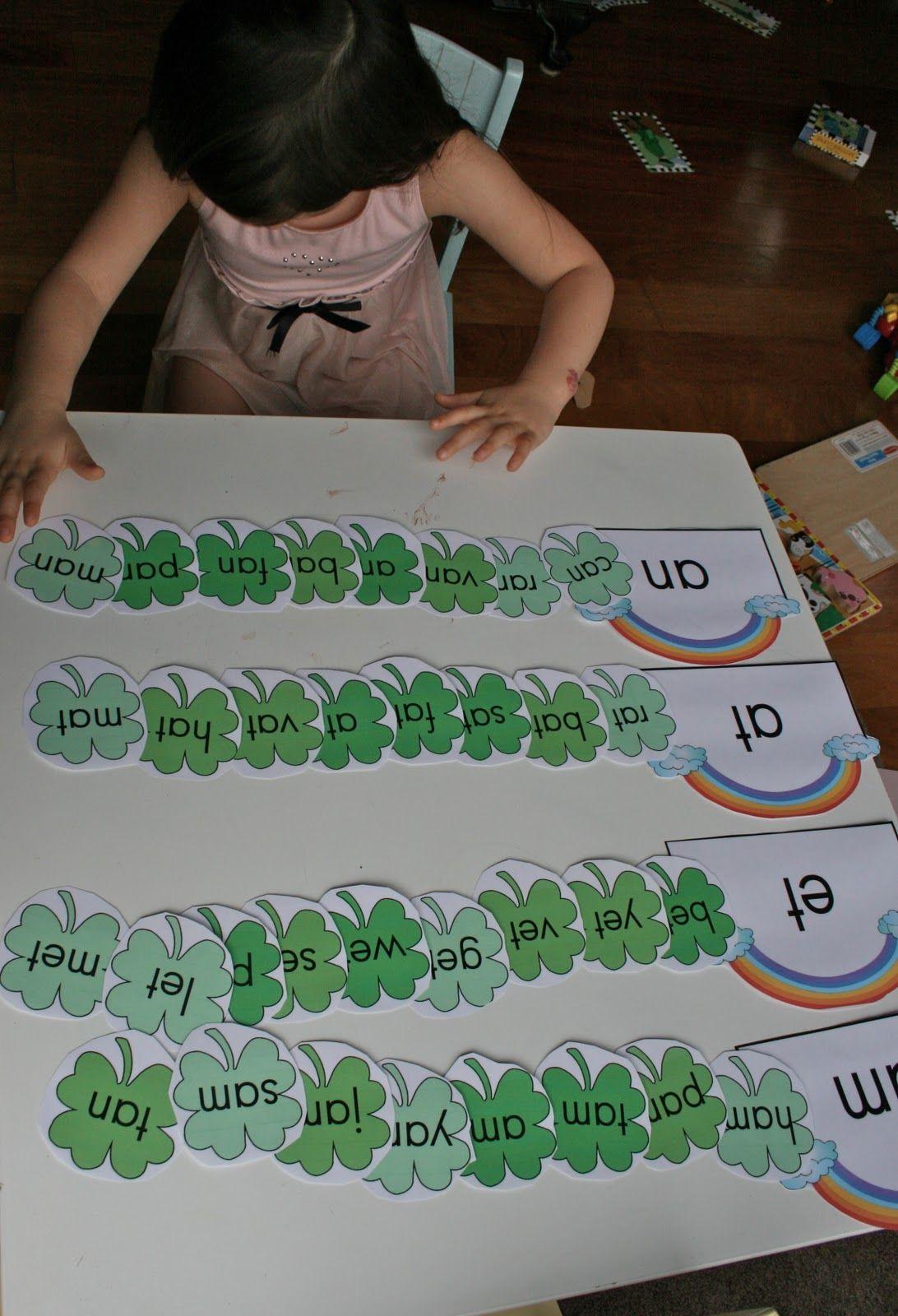 Word Family Game Kindergarten