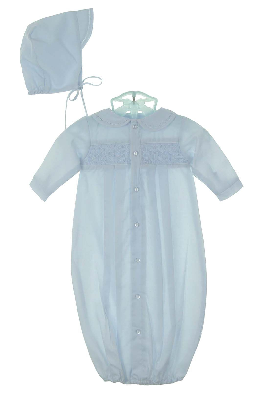 650a905be8e4e NEW Petit Ami Blue Smocked Daygown with Matching Hat $50.00 | For ...