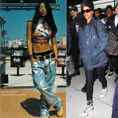Aaliyah Mid 90 S Vintage Retro Of The 80 S And 90 S 90s Hip Hop Fashion 90s Fashion Outfits Trending Fashion Outfits