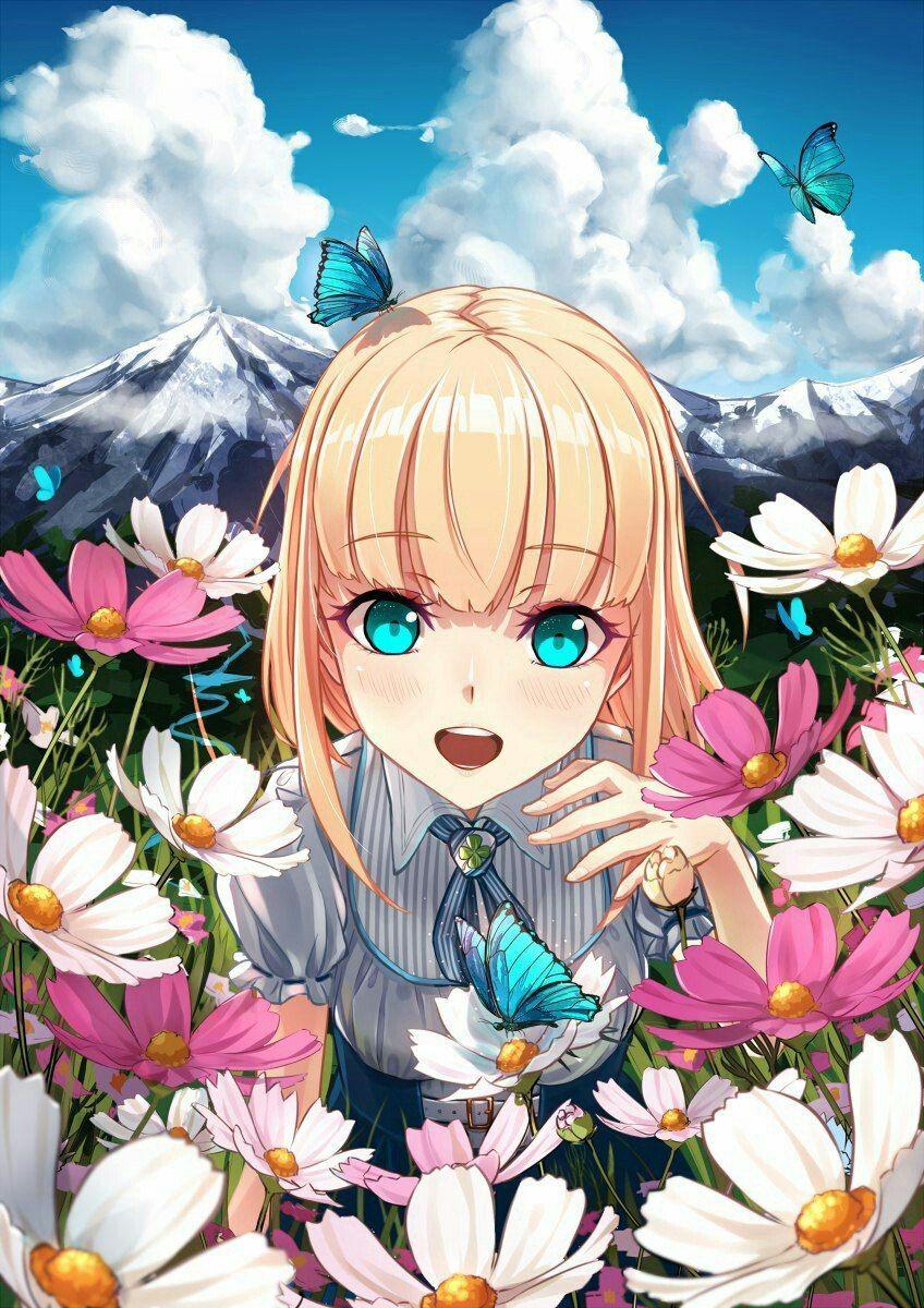 Надписью, открытки красивые аниме