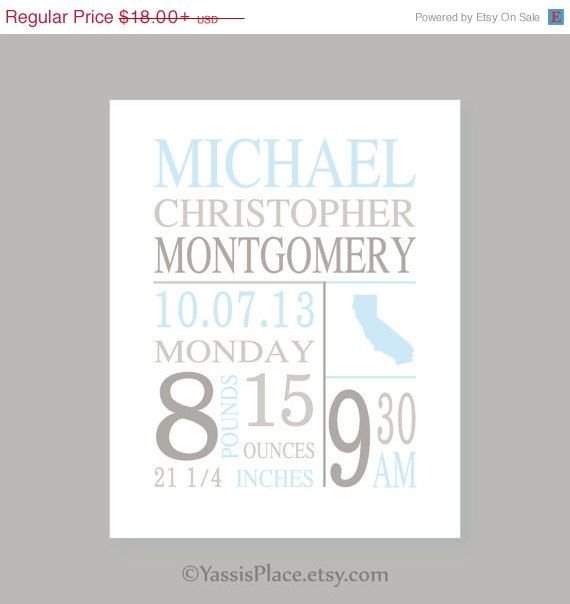 Personalized baby gifts wall decor baby custom details baby birth personalized baby gifts wall decor baby custom details baby birth art baby stats art negle Gallery