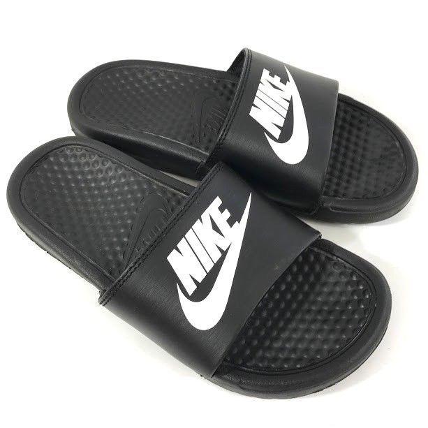 finest selection 9c4e7 d53ff Nike Benassi JDI Black White Youth Size 4Y Slide Sandals Boys Girls Unisex  Shoes  Nike  Sandals