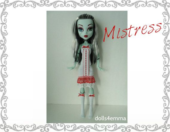 Monster High 17 Doll Clothes  Sexy MISTRESS Dress  by DOLLS4EMMA
