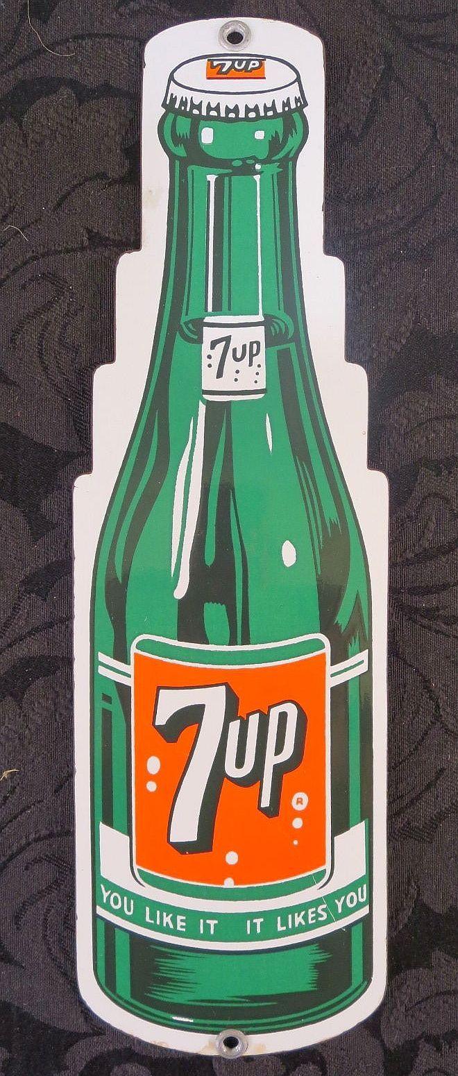 Up vintage door push old antique art deco soda pop beverage