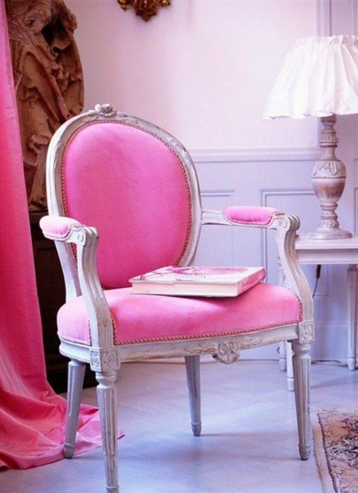 Framboise Couleur Chaise Baroque Rose Rideau