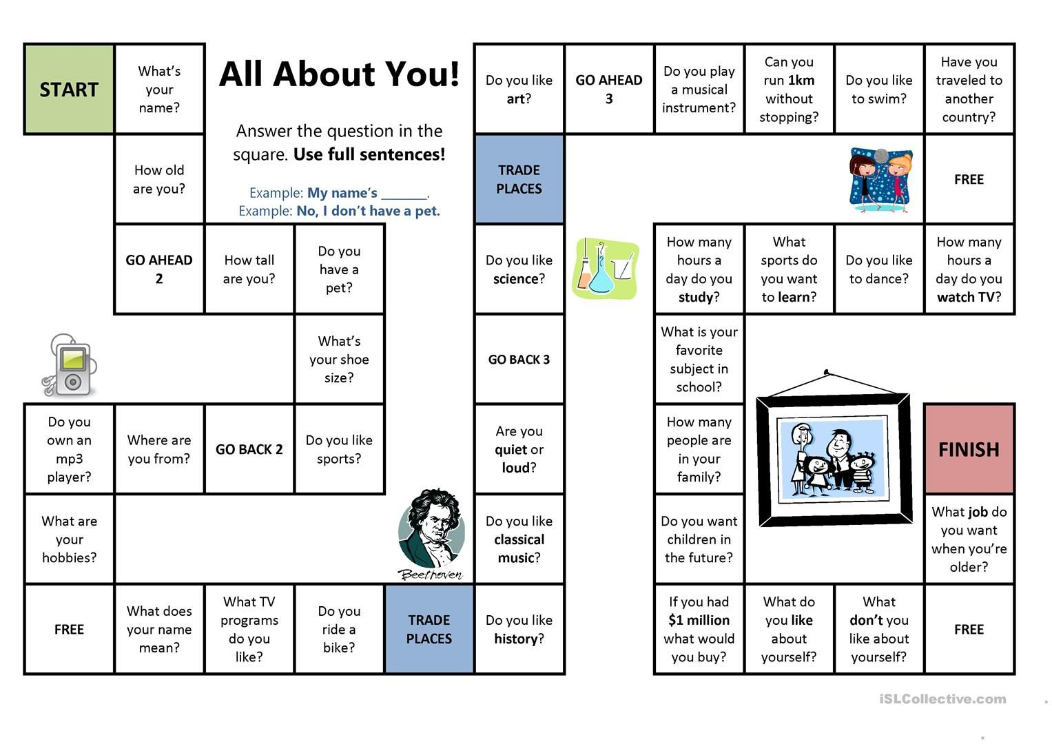All About You Board Game With Images