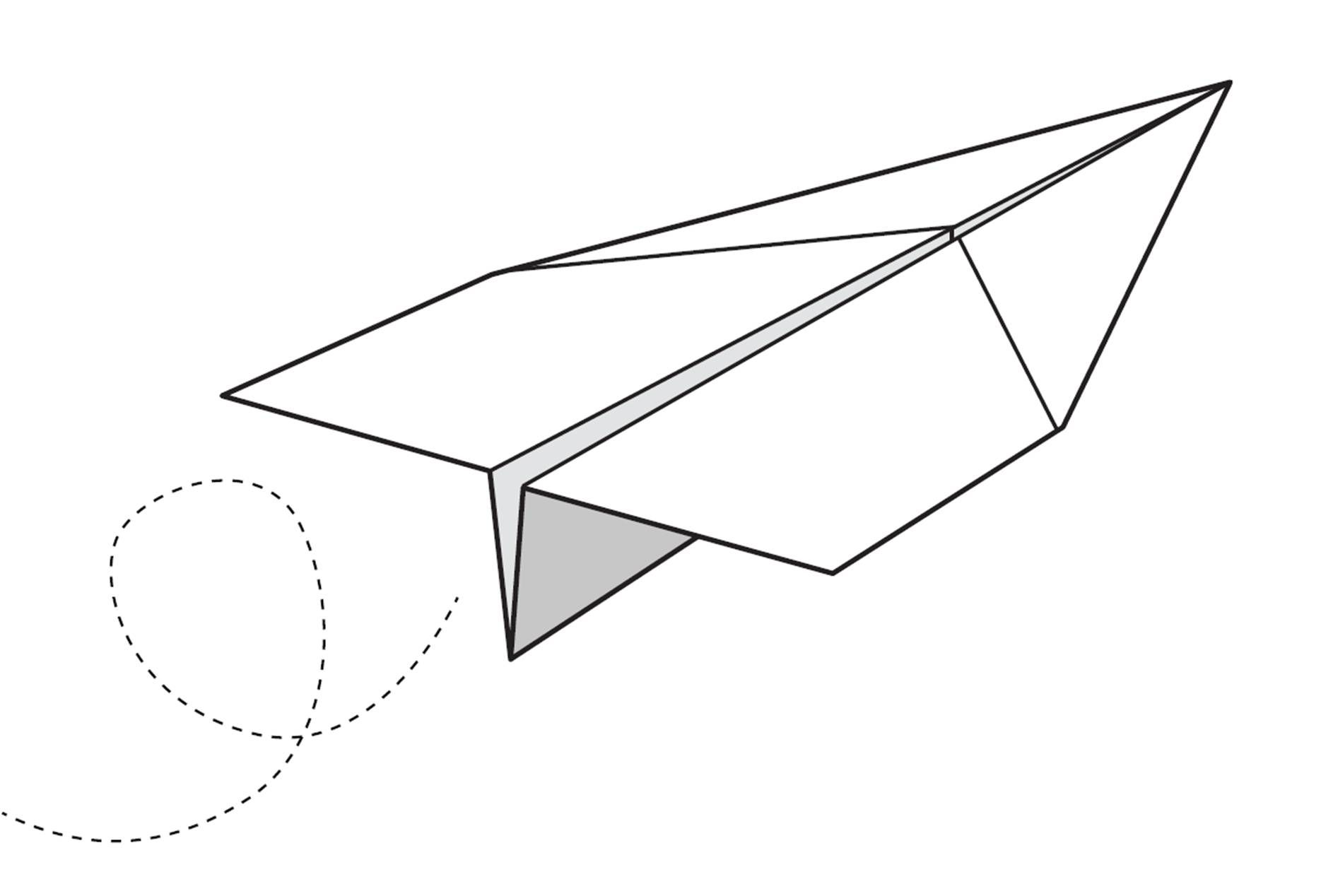 21++ Paper airplane clipart black and white info