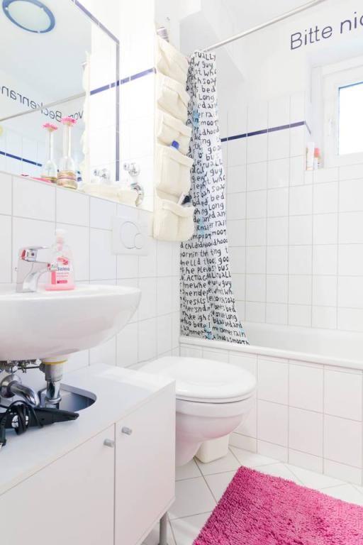 schones badezimmer, schönes helles badezimmer mit farbigen elementen. #white, Design ideen