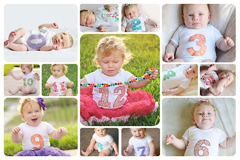 12 Month Story Board Monthly Baby Photos Baby Month By Month Baby Photos