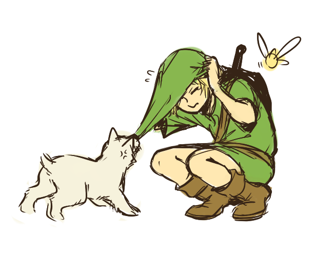 """The Legend of Zelda: Majora's Mask, Young Link and Ciela / """"the dog in clock town is so rude"""""""